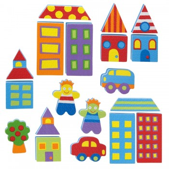 Stickers de bain - City