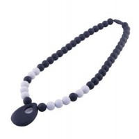 Collier de dentition Baby Choos Pendant Noir gris